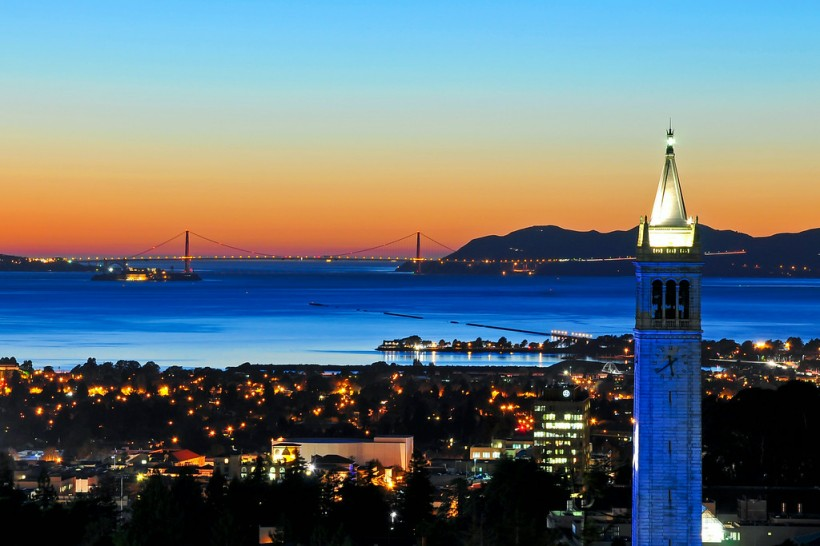 """Gorgeous sunset from UC Berkeley!"""